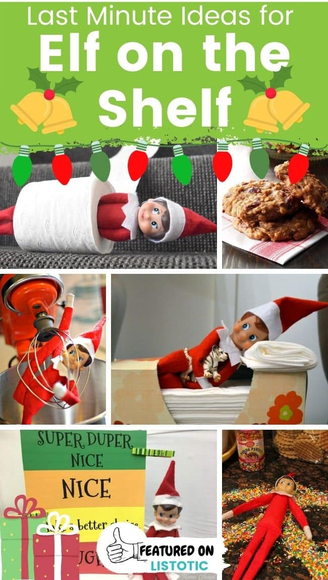 Elf on the Shelf last minute ideas.