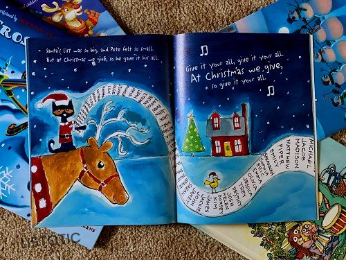 Pete the cat book Christmas stories read aloud