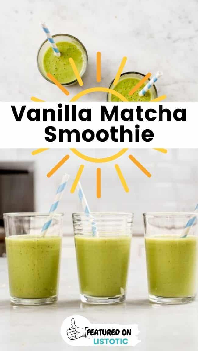 Vanilla matcha smoothie.