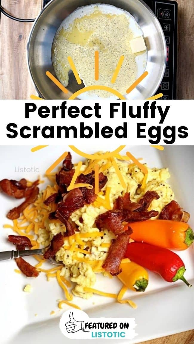 How to make perfect fluffy scrambled eggs.