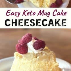 Keto mug cheese cake Pinterest pin image