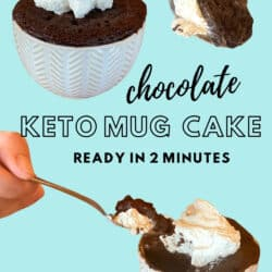 keto chocolate cake with whipped topping