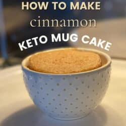 keto mug cake in the microwave