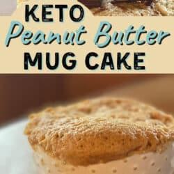 Keto mug cake with peanut butter
