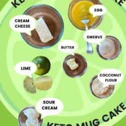 ingredients to make key lime mug cake