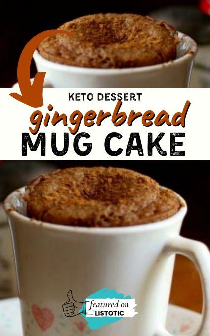 gingerbread keto mug cakes