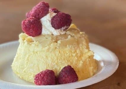 cheesecake flavored keto mug cakes