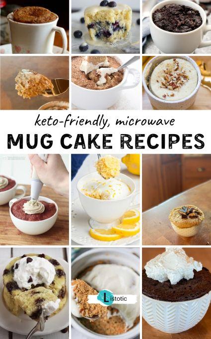 18 different keto mug cakes