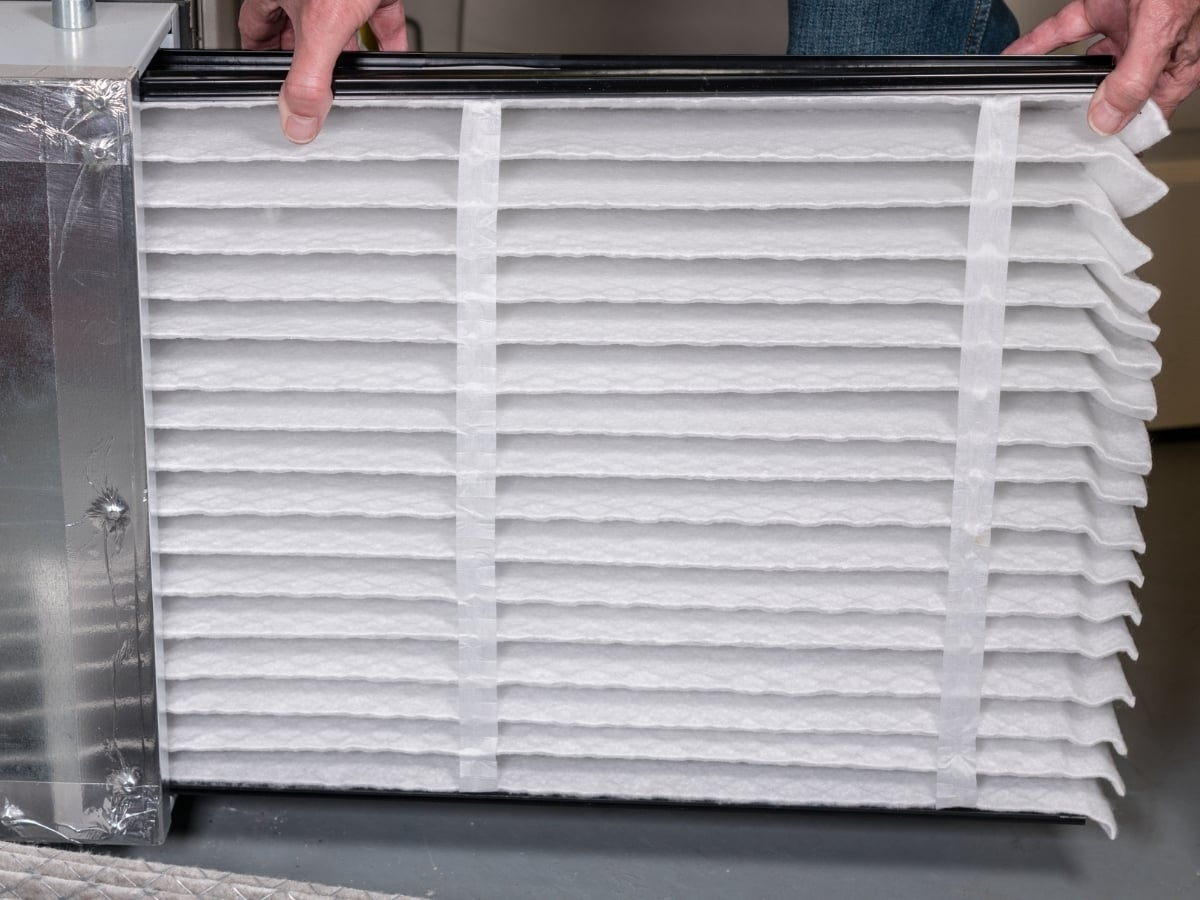 change air filters during your spring cleaning checklist