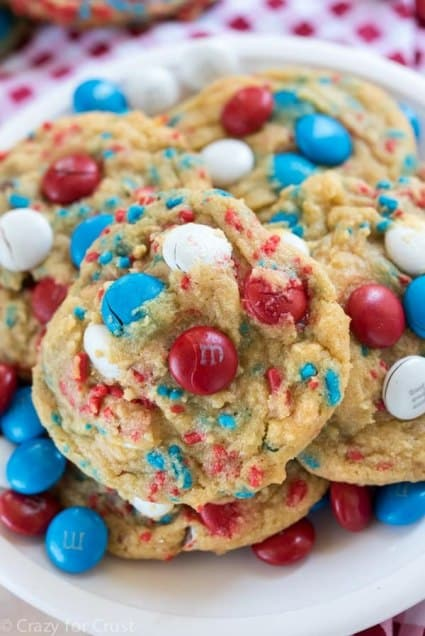 Fireworks Pudding Cookies 4th of july desserts