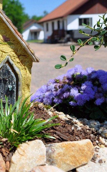ageratum blue flower fairy garden plants