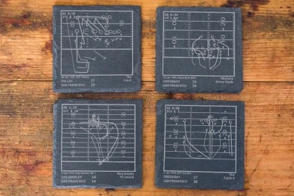 Greatest Plays grey slate coasters Father's Day gift ideas