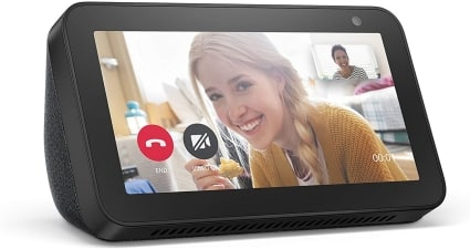 amazon echo show 5 with alexa stay connected with video calling- charcoal