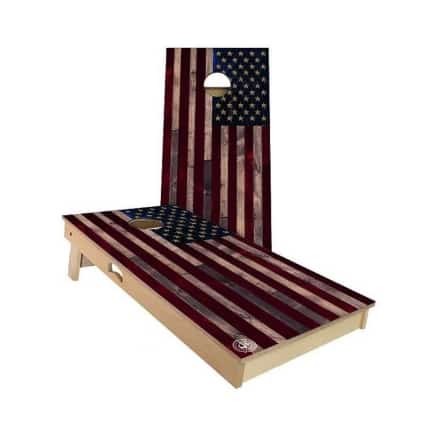 American flag wood board bean bag toss game Happy Father's day gifts