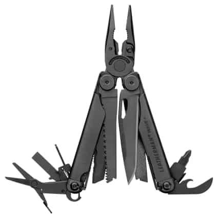 leatherman multitool wire cutters and spring action scissors tool