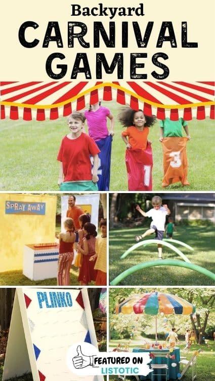 DIY carnival games.
