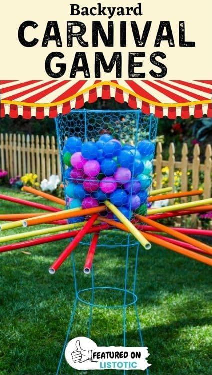 Kerplunk backyard carnival games.