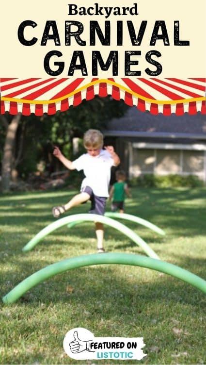 Hurdle run carnival game ideas.
