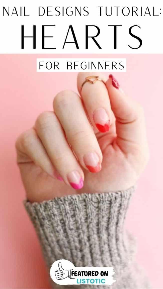Hearts nail tutorials.