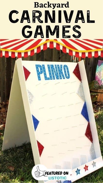 Plinko homemade carnival games.
