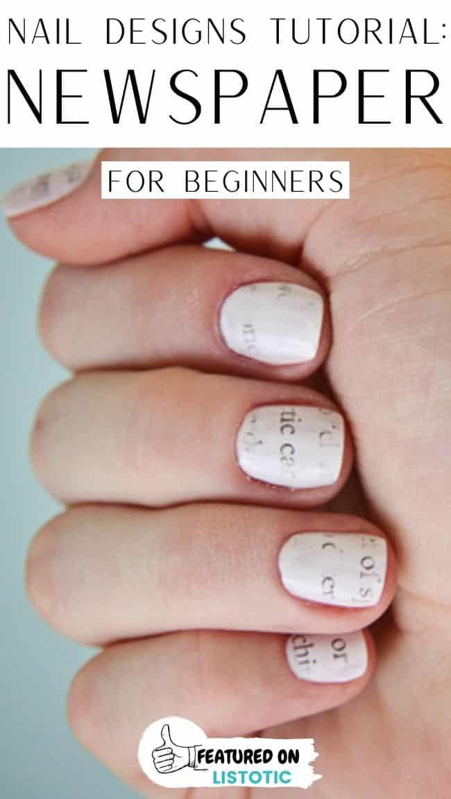 Newspaper design fingernails