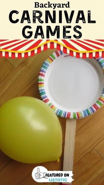 Balloon bat list of carnival games.