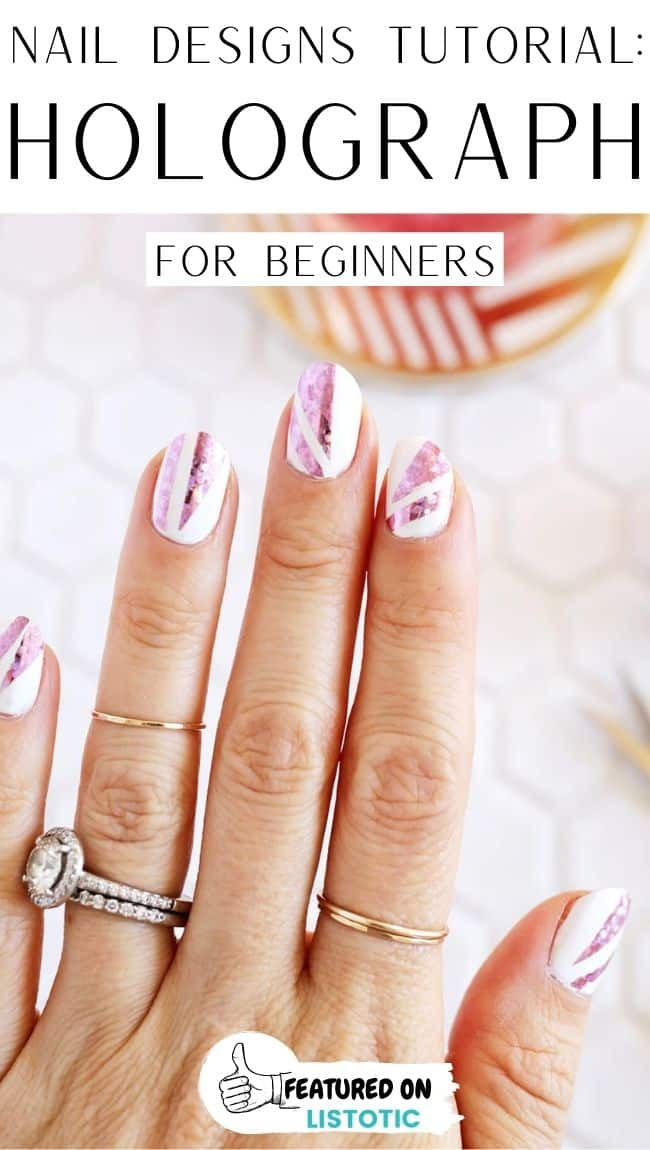 Holographic nail tutorials.