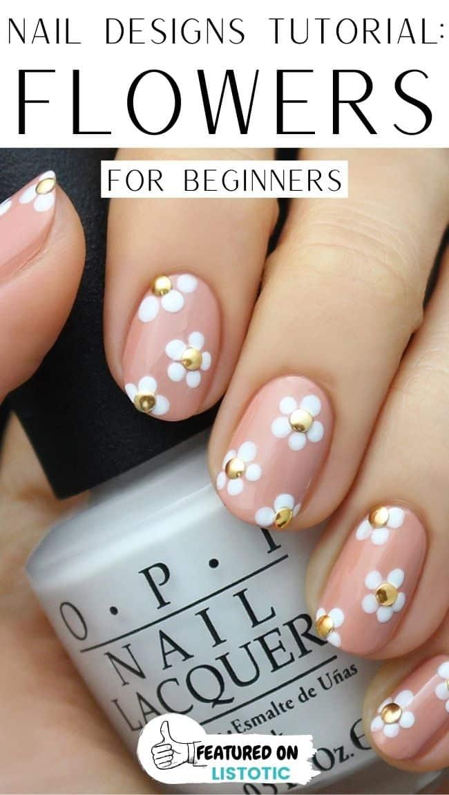 Flower beginners nail art