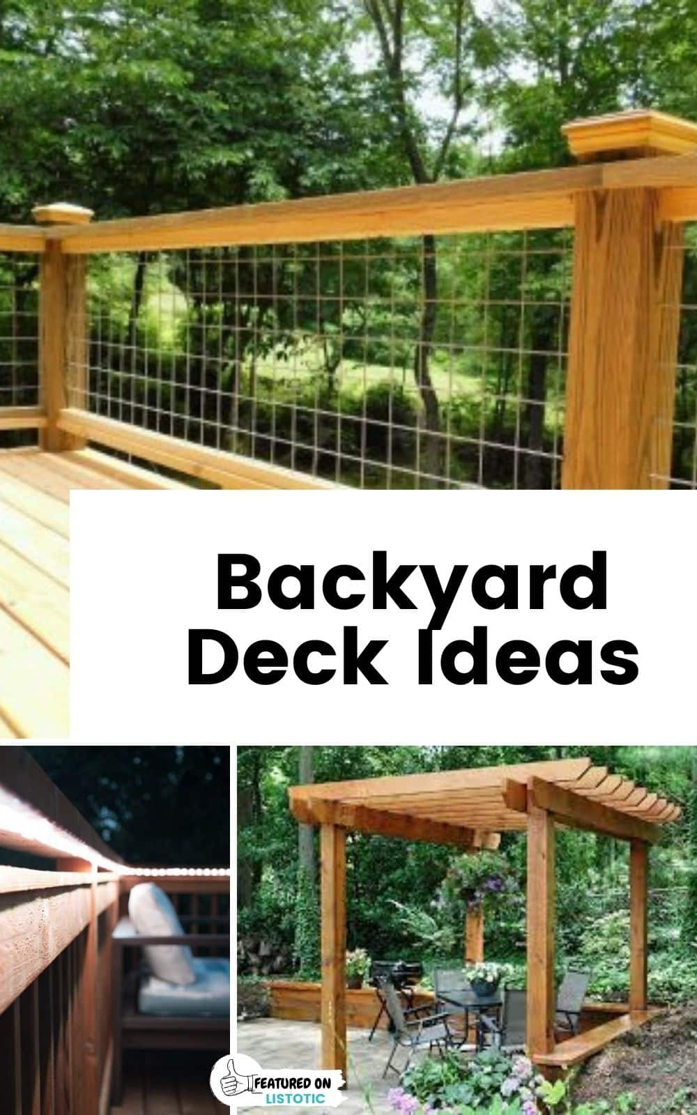 ideas for deck privacy screen and deck railing ideas