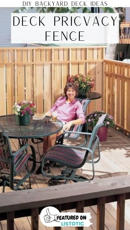 deck privacy screen fence