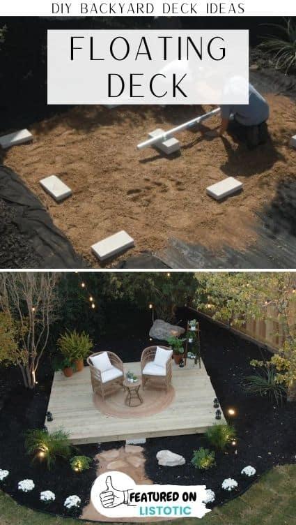 diy floating patio