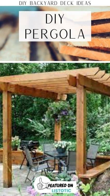 deck privacy with a DIY pergola