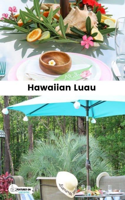 Hawiian Luau graduation idea