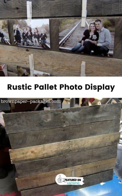 pallet photo display
