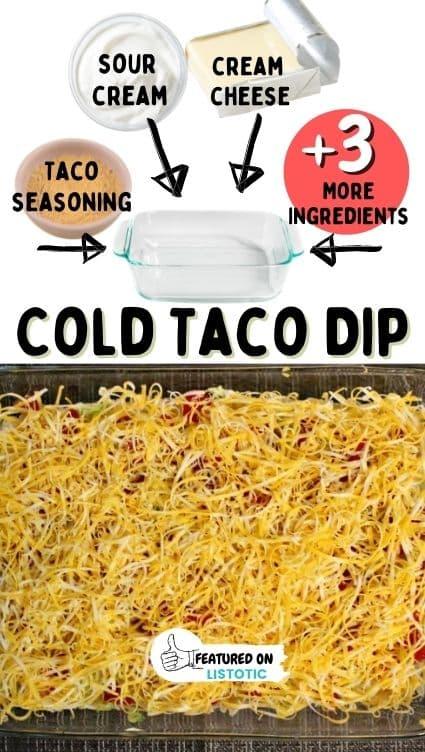 Cold taco dip recipe.