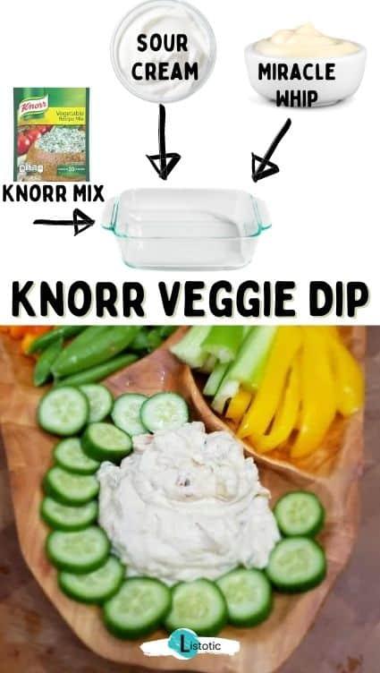 Knorr vegie dip easy cold dip recipes.