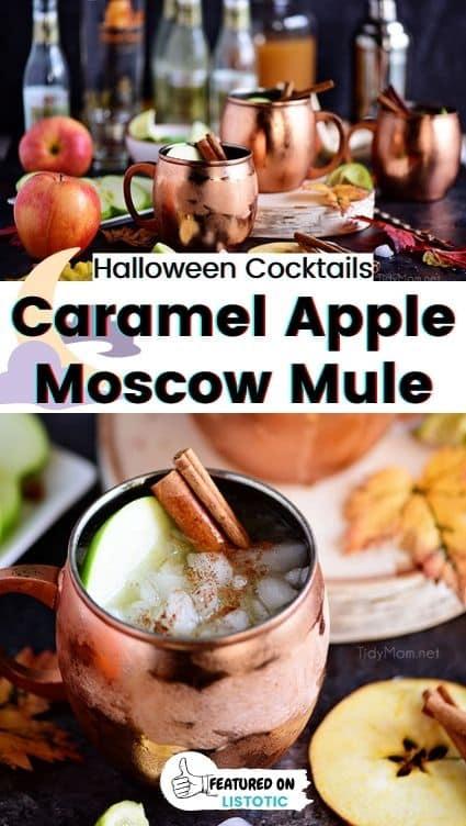 Caramel apple moscow mule.
