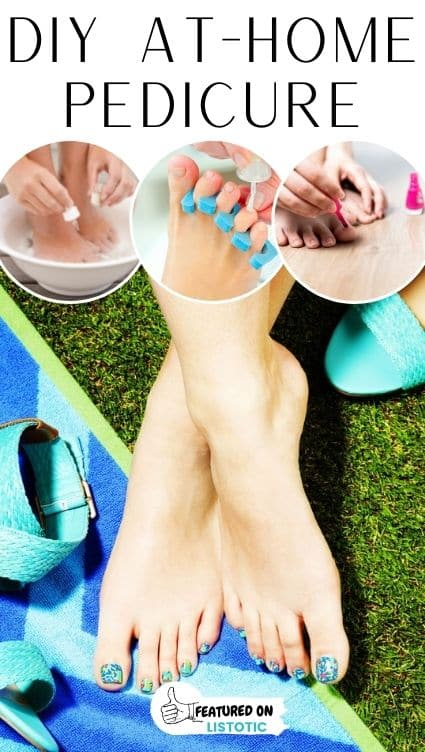 Footcare home remedies DIY pedicure.