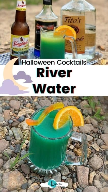 River water beer cocktail.