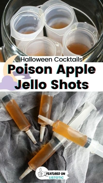 Poisoned apple Jell-o shot syringes.
