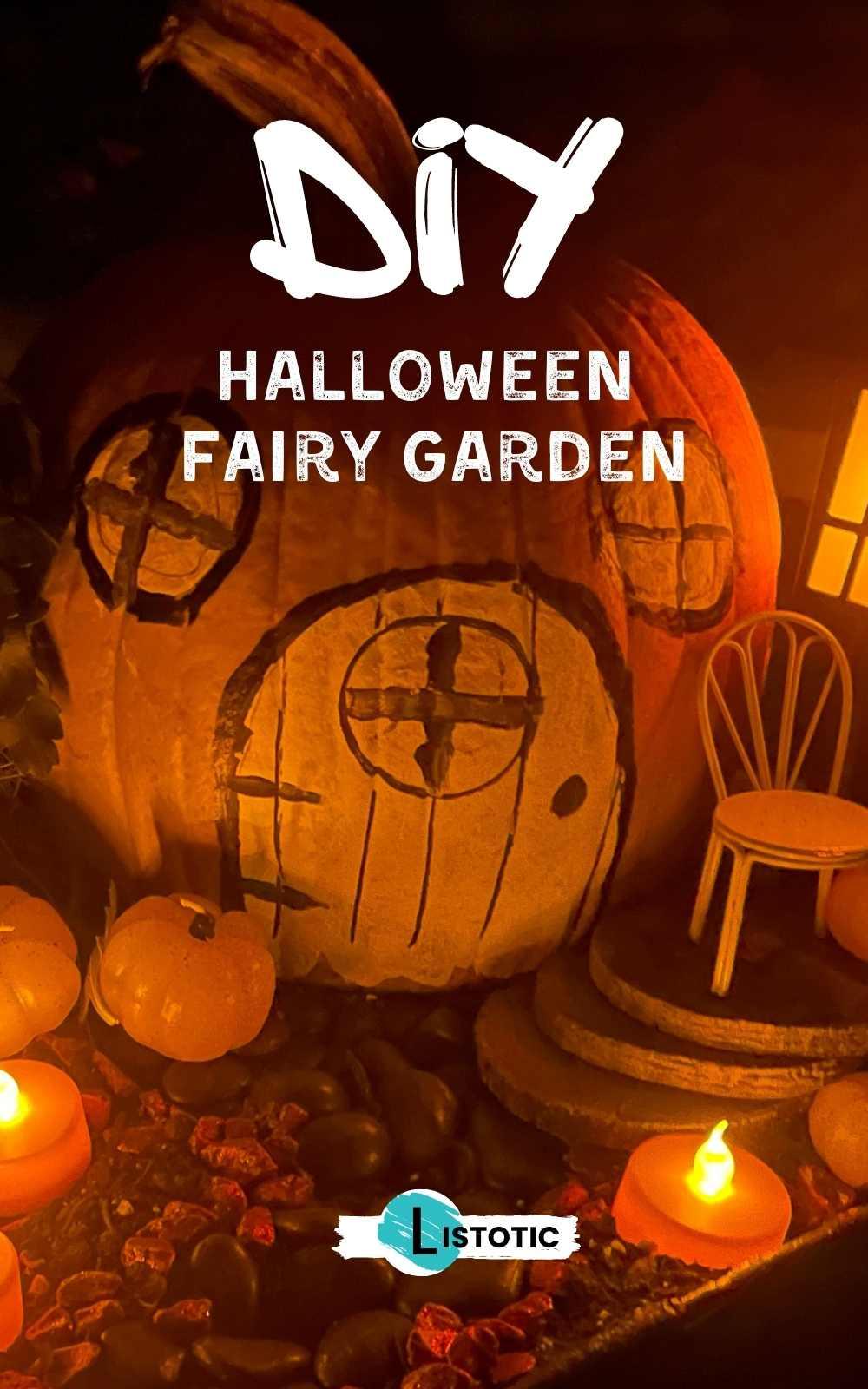 DIY Halloween Fairy Garden Glowing in the dark