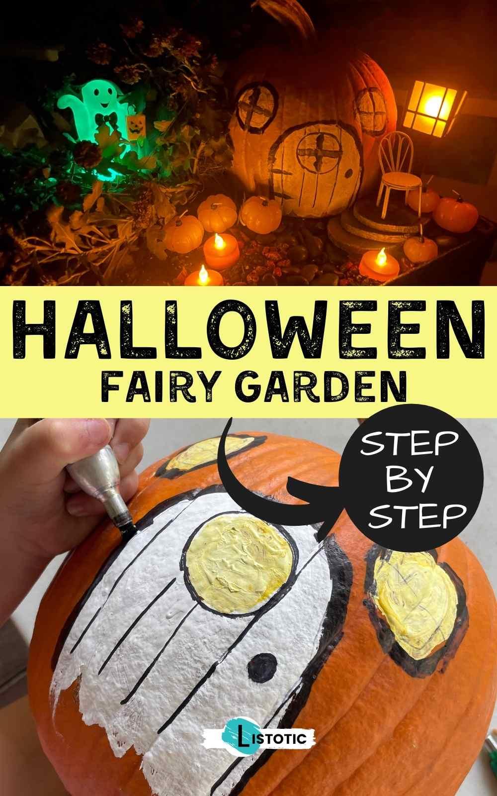 Halloween Trick or Treat Fairy Garden Pumpkin House