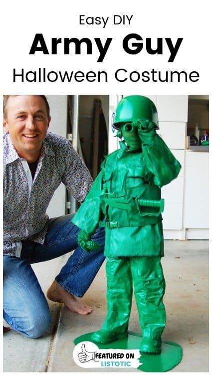 toy army guy diy Halloween costume for boy
