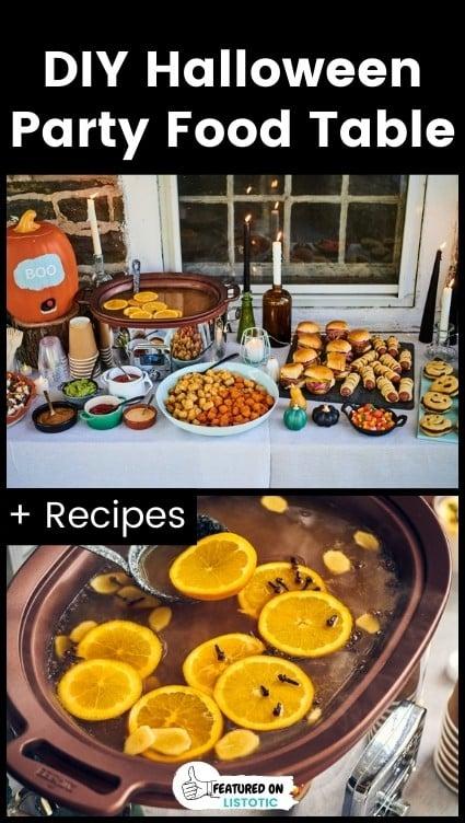 DIY food table.