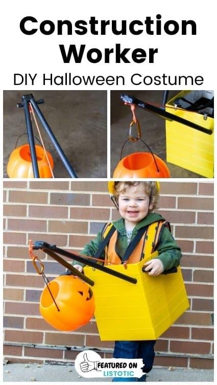 Homemade Crane Truck Kids Costume