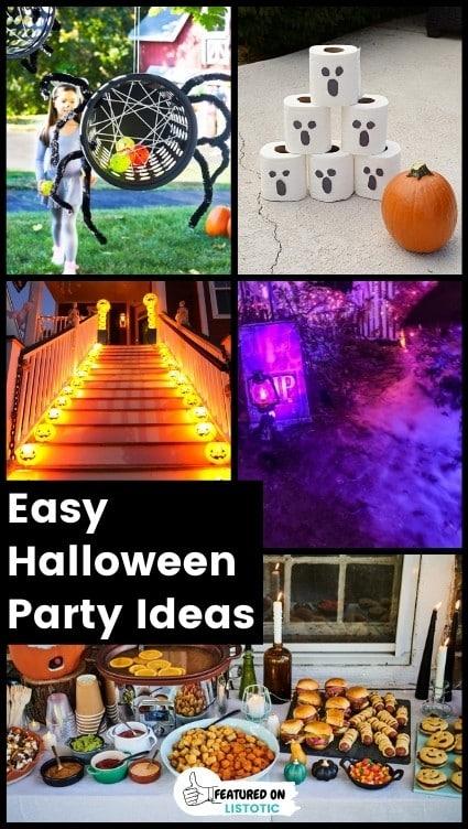 Easy backyard Halloween party ideas.