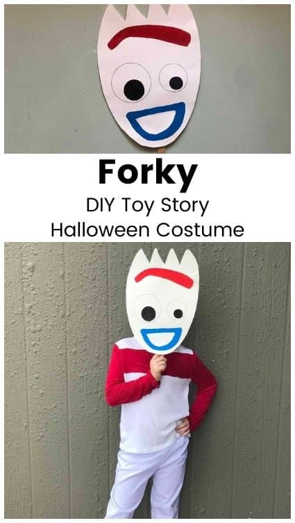 forky from Toy story homemade Halloween costume