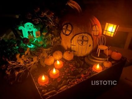Glowing Halloween Garden lights